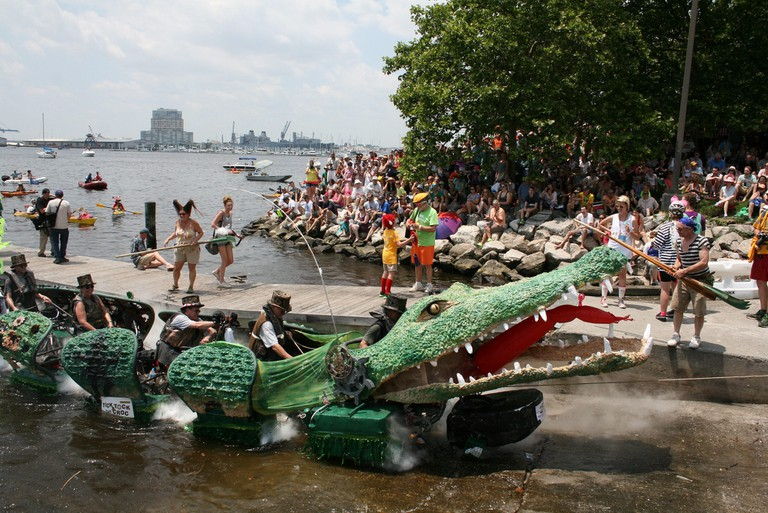 Tick Tock the Crock, kinetic sculpture race, Canton, Baltimore, Maryland