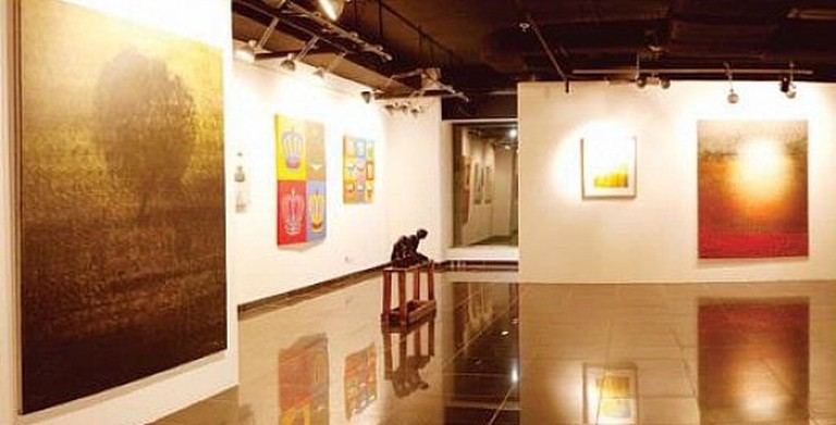 An exhibition promoting local Saudi artists at Athr Gallery