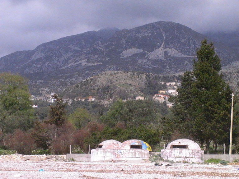 Bunkers in the Albanian Riviera