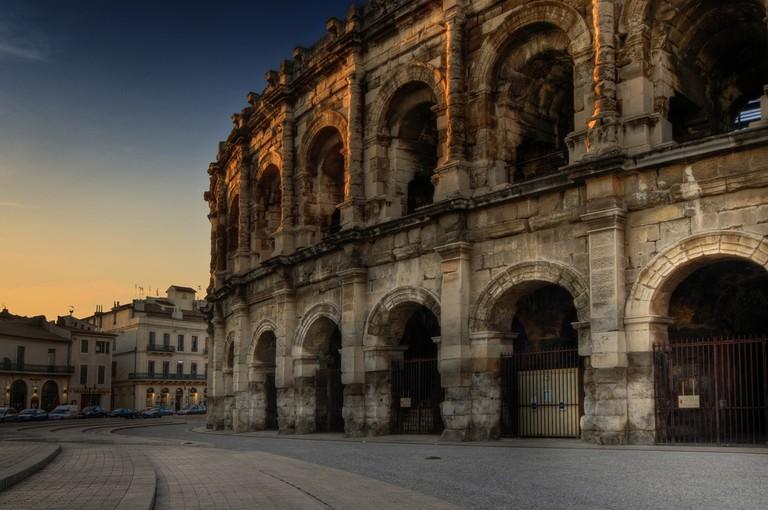 The historic amphitheatre in Nimes