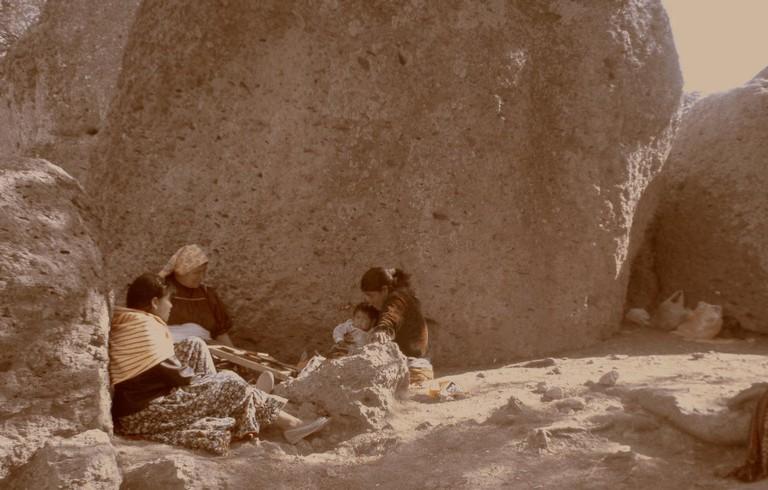 Raramuri people at Lake Arareko