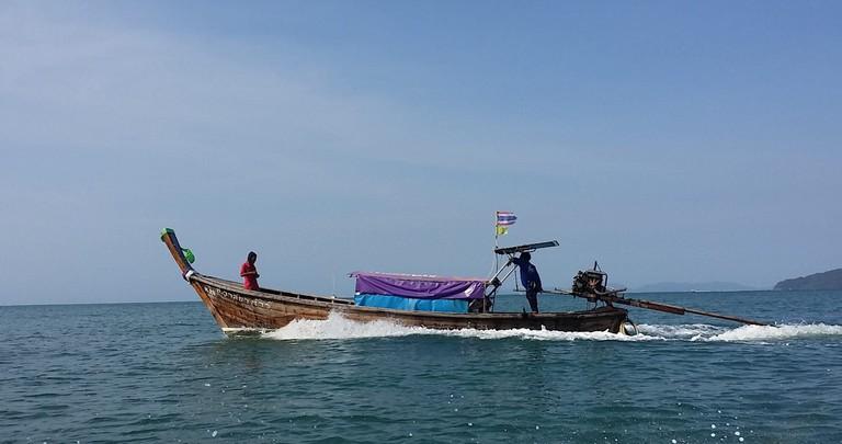 Long boat in Ao Nang, Krabi