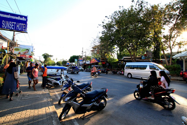 Scooters are popular in Krabi