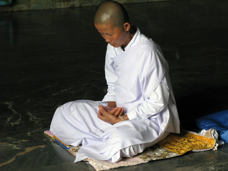 A mae chi in meditation