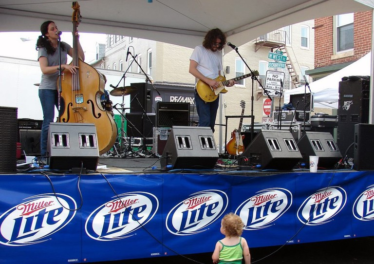 One of the many talented jazz and blues bands performing at Federal Hill Jazz & Blues Festival.