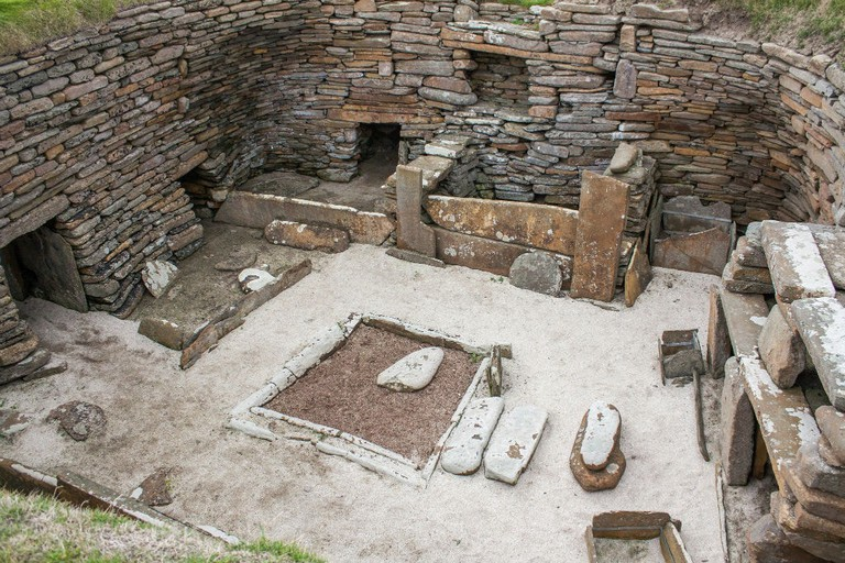 Neolithic Dwelling At Skara Brae, Orkney, Scotland
