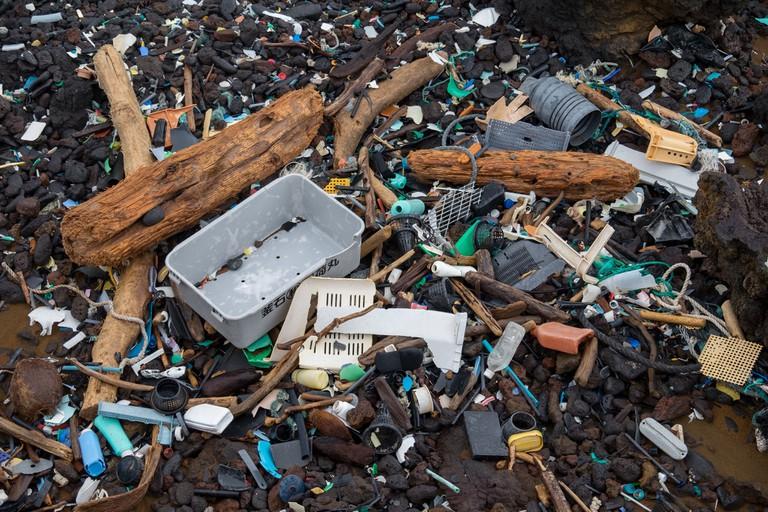 Kamilo Beach trash