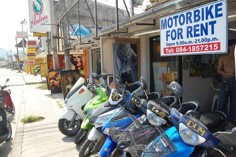 Scotters for rent in Koh Samui