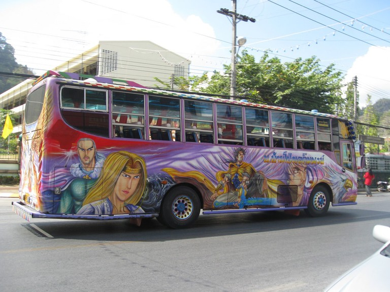 Private bus in Southern Thailand