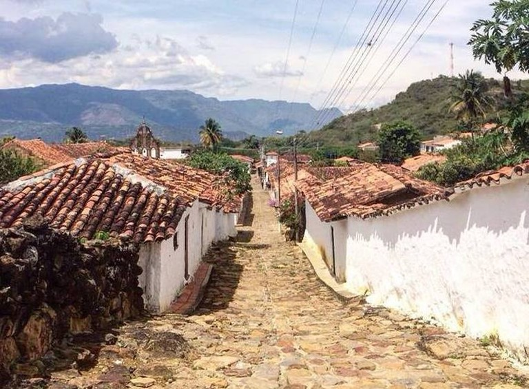 The 200-year-old stone paved road runs from Barichara to the tiny village of Guane