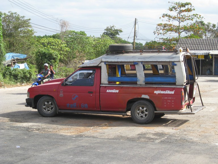 Songthaew parked up in Krabi