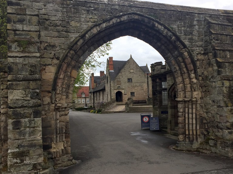 The entrance to Repton abbey where the Viking army was found