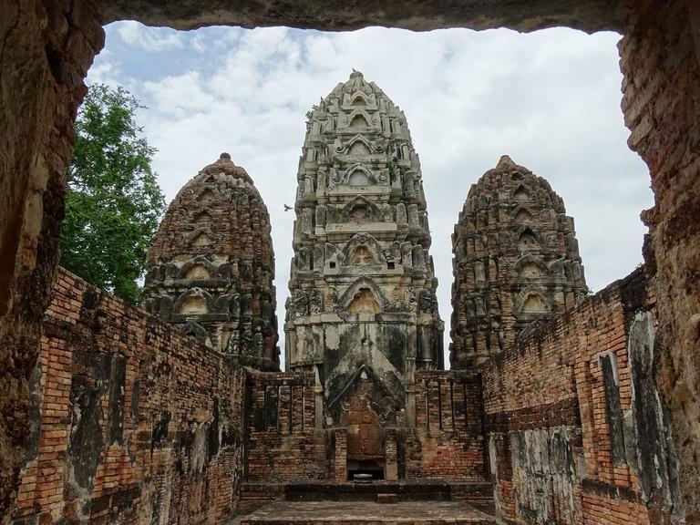 Khmer-style ruins at Sukhothai
