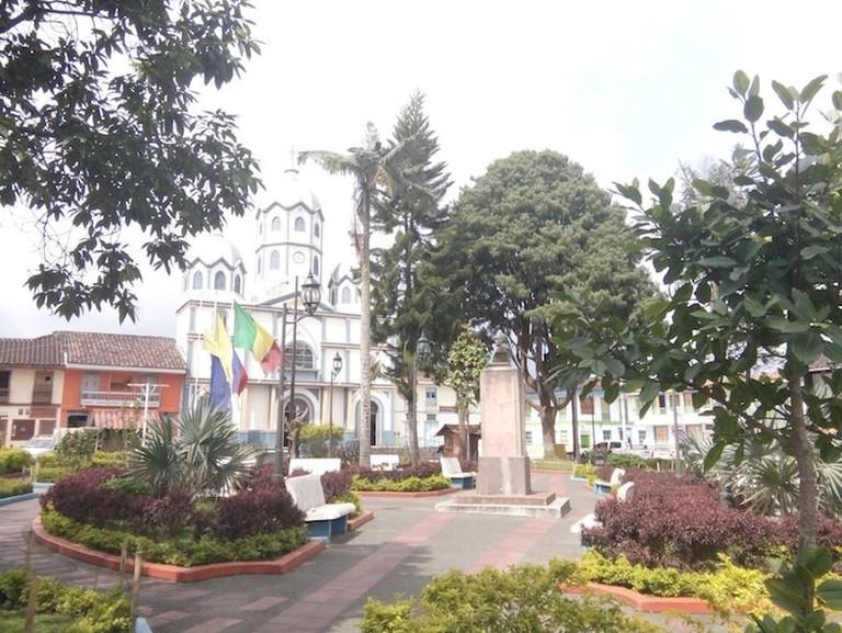 The central square in Filandia
