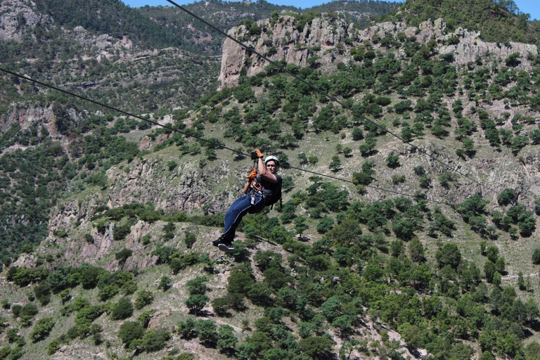 Ziplining in the Copper Canyon