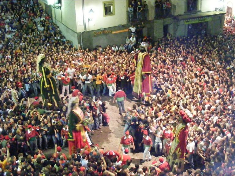 Patum de Berga during Corpus Christi, Catalonia