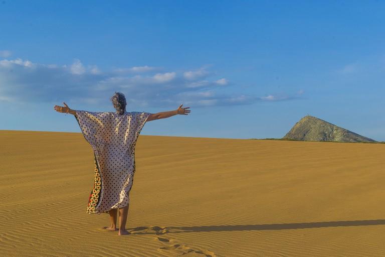Sand dunes in La Guajira desert