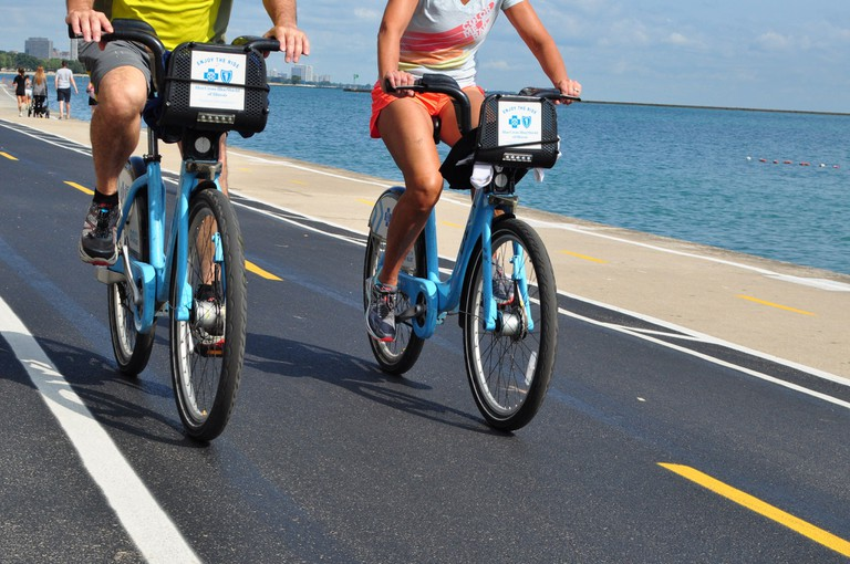 Divvy is Chicago's bike-sharing program, perfect for exploring the Lakefront Trail