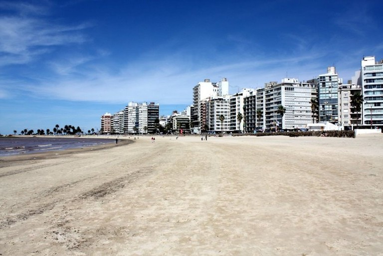 Pocitos' towers from the beach