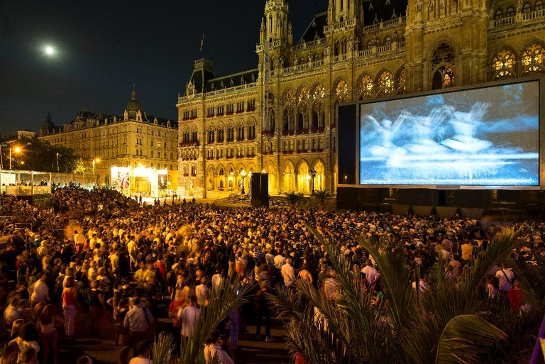 One of the free film nights in Vienna