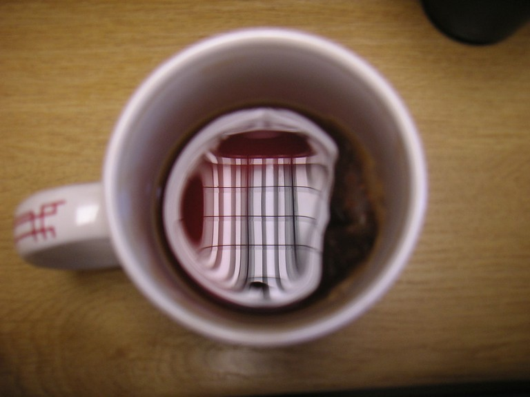 Reflections in a cup of rooibos tea