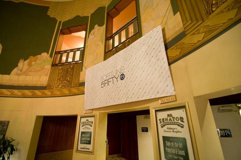 The Senator Theatre lobby in 2010