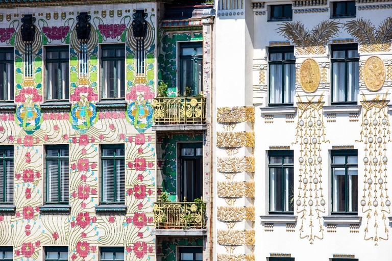 The facades of the apartments