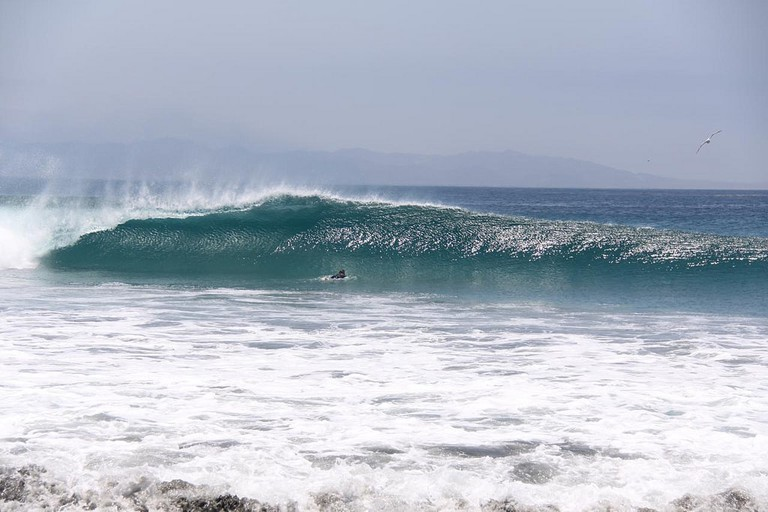 A perfect left in Baja California South