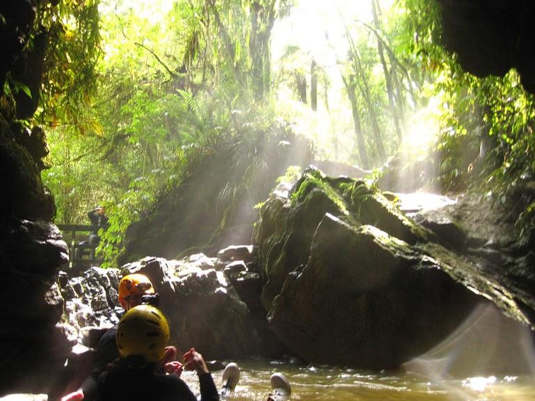 Black water rafting in Waitomo
