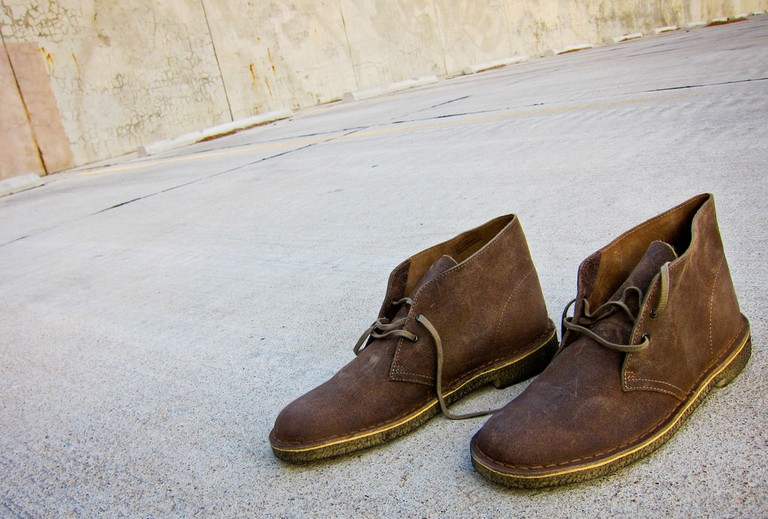 Desert boots are quintessential Chicago footwear for men.