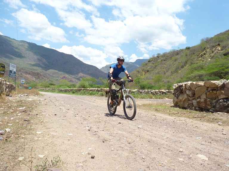 Mountain biking in Colombia's Suarez Canyon