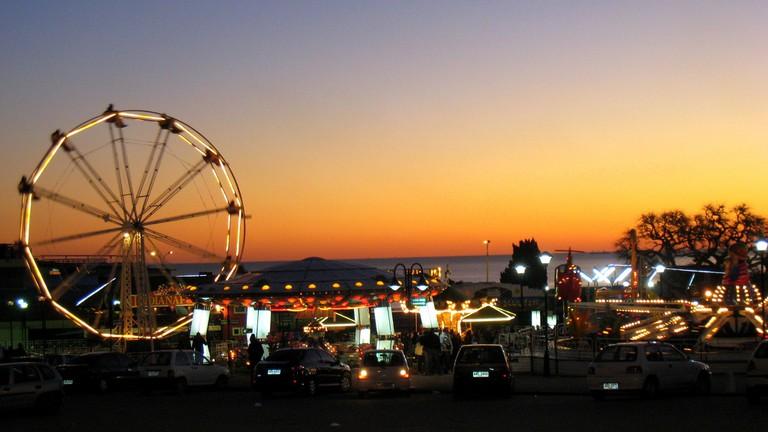 Amusement park in Parque Rodó