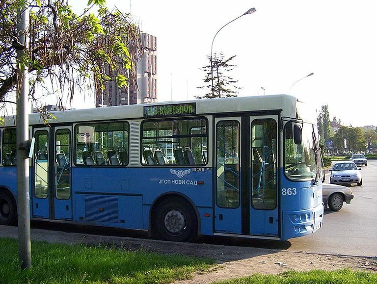 A bus in Novi Sad