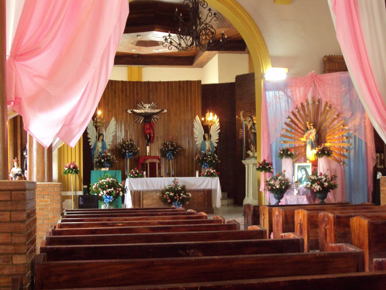 Religious icons at a church in Nicaragua