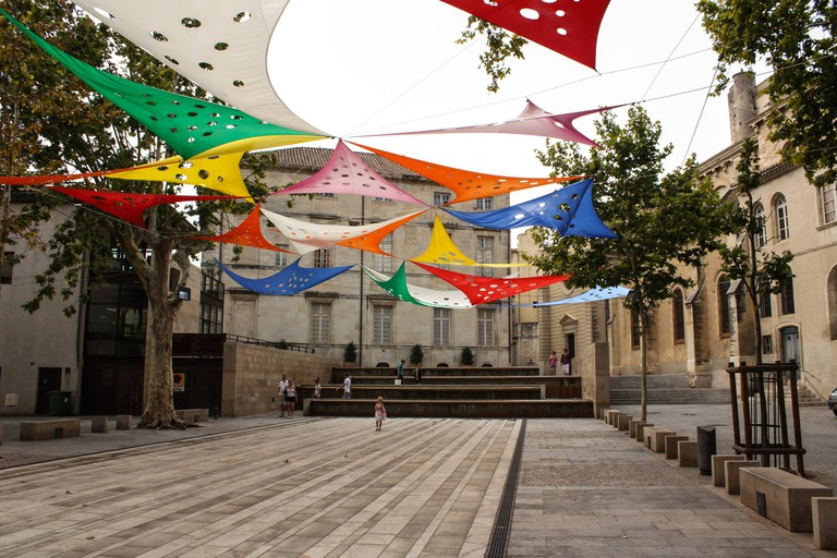 Nimes center in the South of France