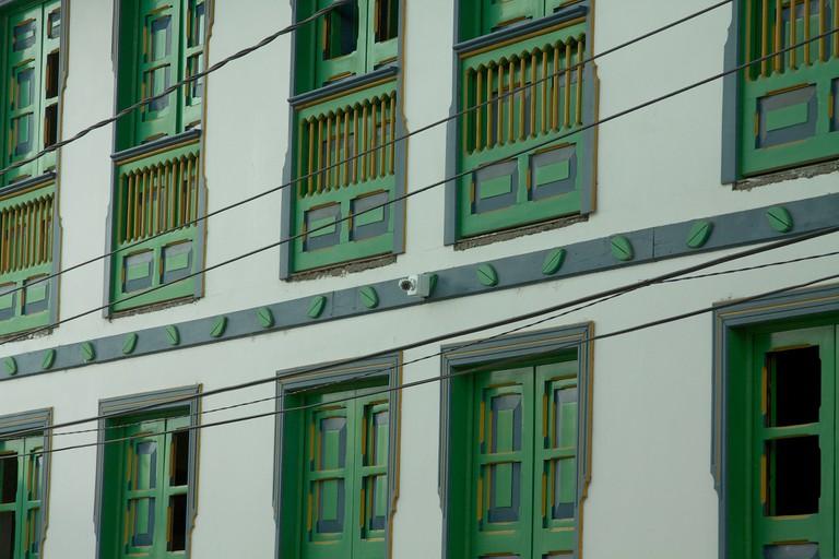 Colourful buildings in Filandia