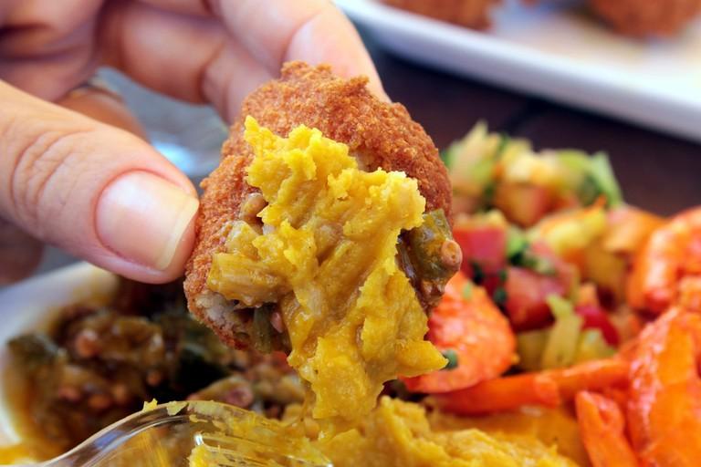 Acarajé street food in Bahia