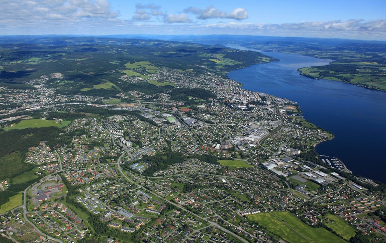 Aerial view of Gjøvik www.valderhaug.no