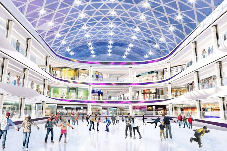Rendering of the American Dream Miami's ice skating rink