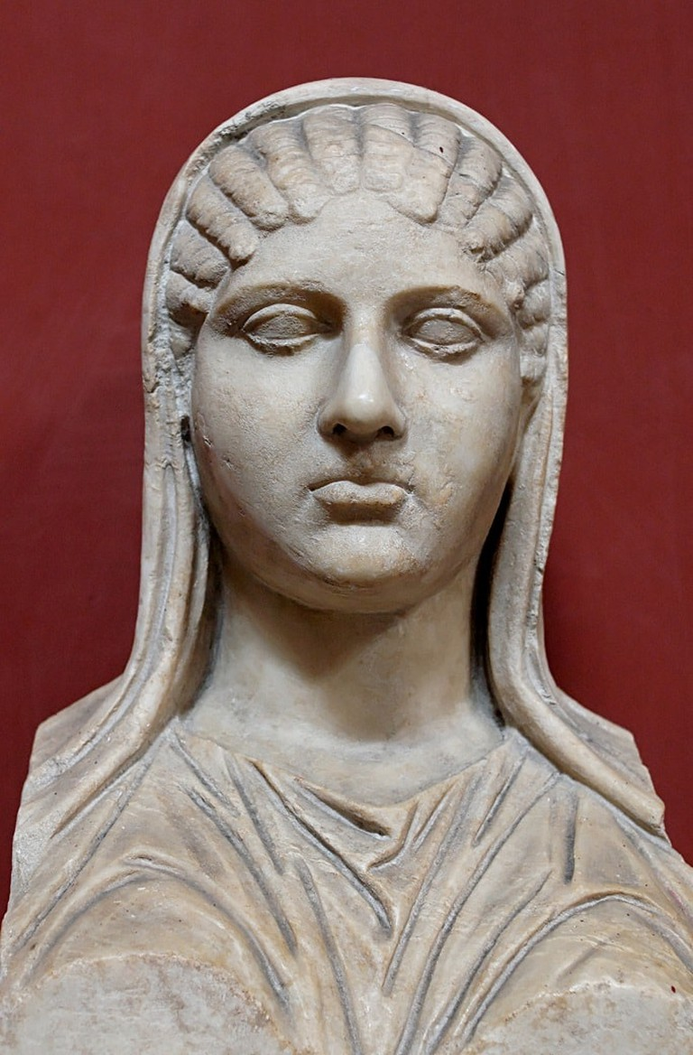 Bust of Aspasia, identified through an inscription.