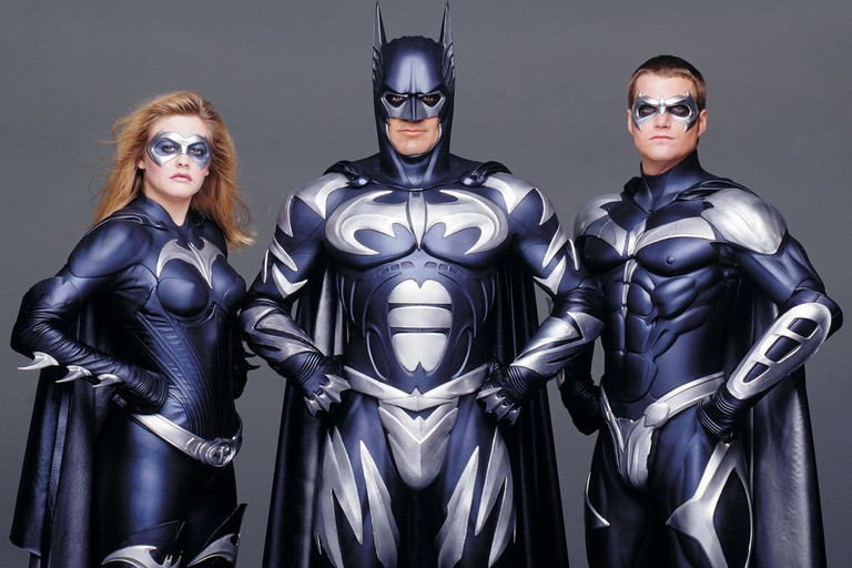 Alicia Silverstone, George Clooney and Chris O'Donnell in 'Batman & Robin'