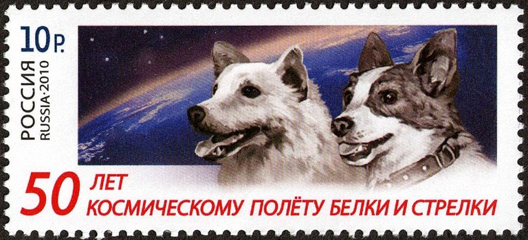 Belka_&_Strelka_50_Years_Flight_Stump