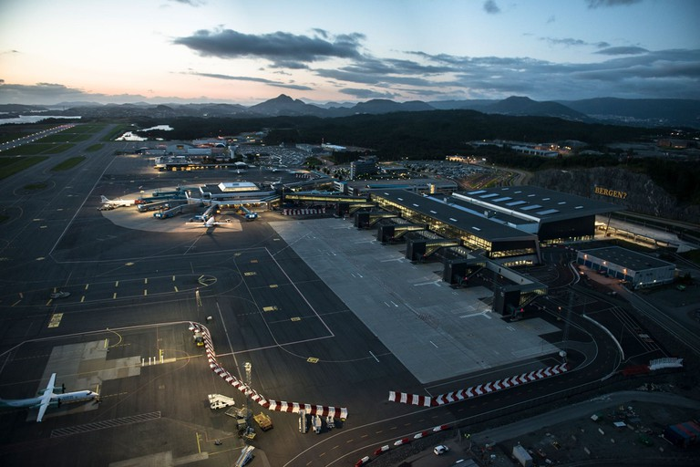 Bergen's renovated airport, Courtesy of Bergen lufthavn Flesland