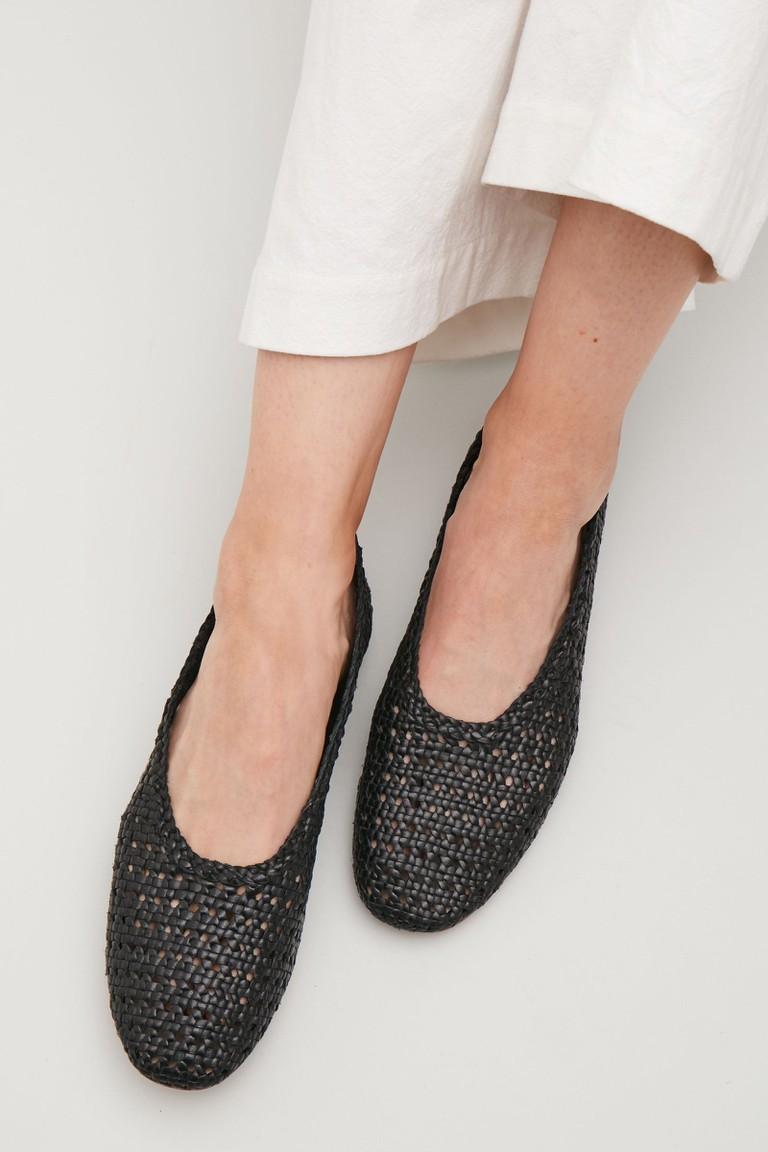 braided slip-on shoes