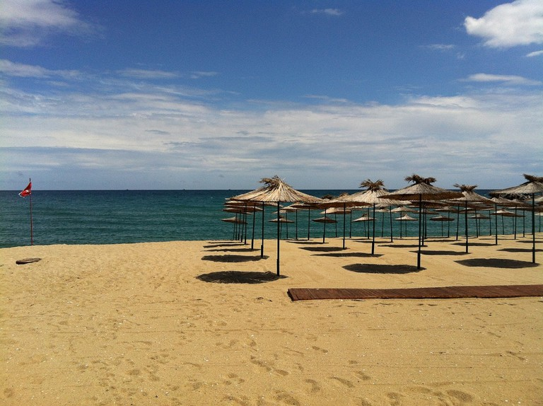 A beach at the Bulgarian Black Sea Coast