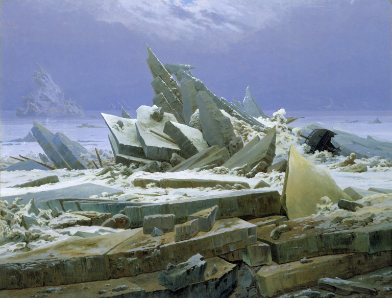'The Sea of Ice' also known as 'The Wreck of Hope' by Caspar David Friedrich