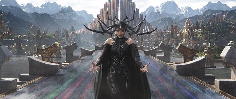 Cate Blanchett as Hel in Thor-Ragnarok (2017),