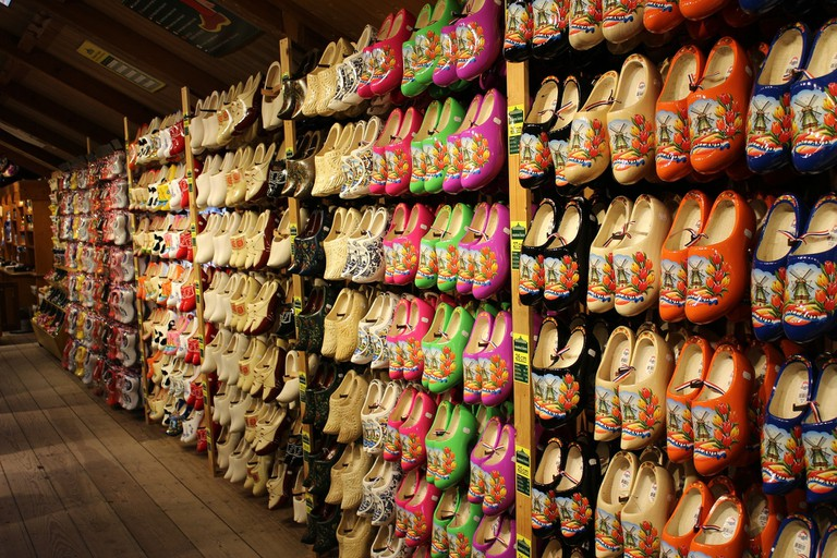 Many spots around Zaanse Schans sell awesome souvenirs, including handmade clogs