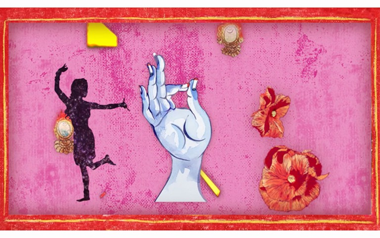 Chitra Ganesh, still from the digital animation 'Adventures of the White Beryl,' 2018
