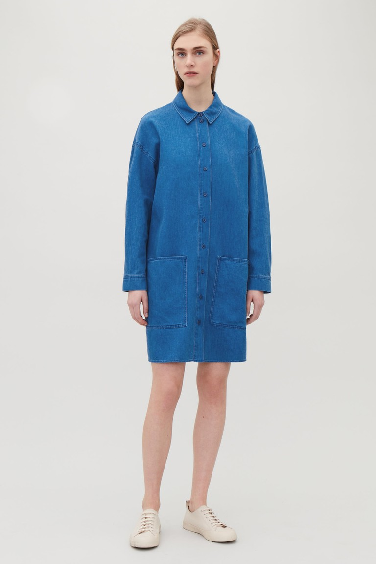 COS denim shirtdress